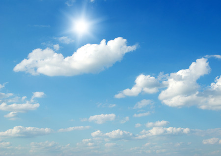 cumulus: clouds in the blue sky