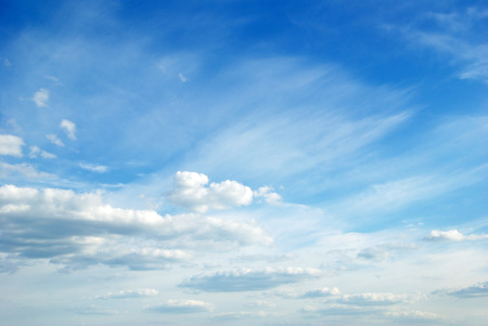 cloud sky: clouds in the blue sky