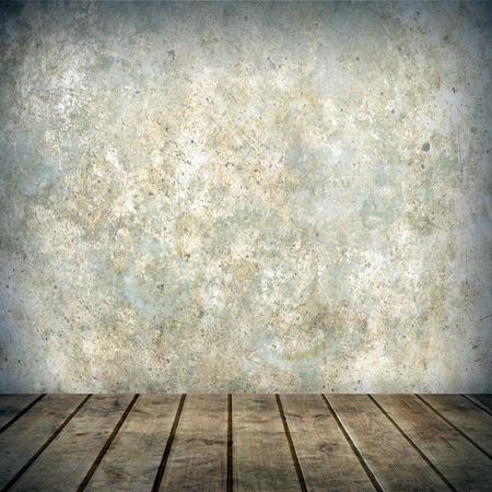 empty interior: empty interior of vintage room Stock Photo