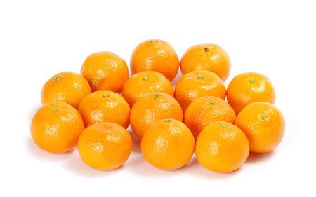 tangerine: Tangerine isolated on white background Stock Photo