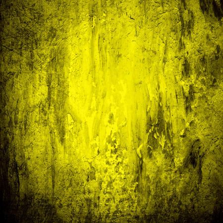 old wallpaper: Yellow grunge wall for texture background