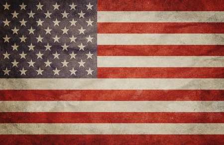 vintage flag: Grunge USA Flag Stock Photo