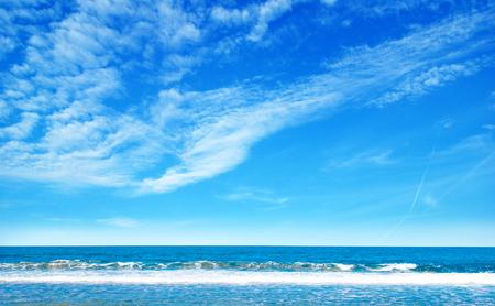 beautiful sky: Beautiful sky and blue sea
