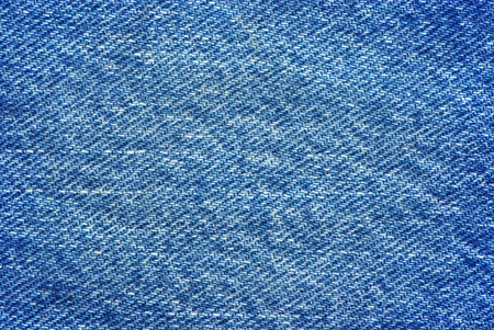 canvas background: Textured striped blue jeans denim linen fabric background Stock Photo