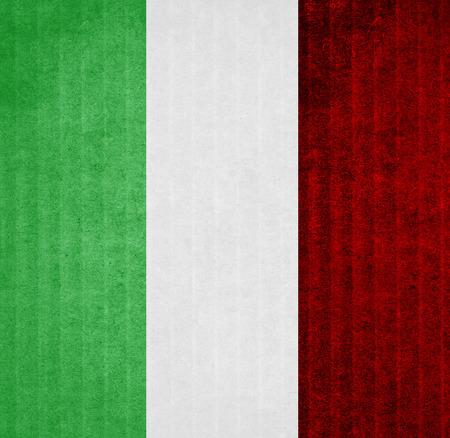 bandera blanca: bandera de Italia Foto de archivo