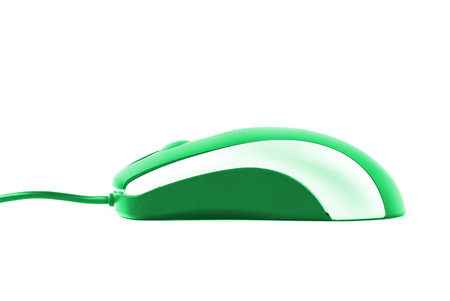 clique: Computer mouse isolated on a white background Stock Photo