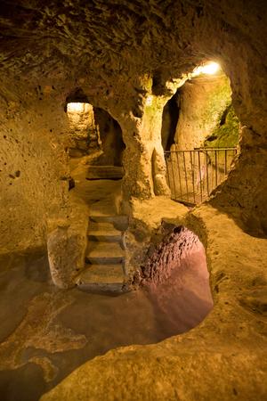 stone volcanic stones: Kaymakli Underground City, Nevsehir, Turkey