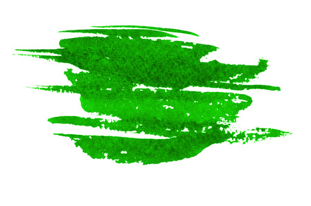 paint strokes: Green paint strokes on paper Stock Photo
