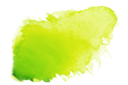Green watercolor on paper 免版税图像