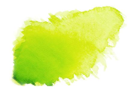 Green watercolor on paper Foto de archivo