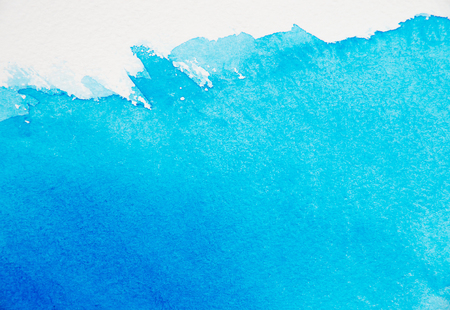 青い水彩の抽象的な背景 写真素材