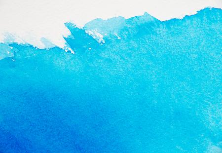 Abstrait aquarelle bleue Banque d'images - 59183068