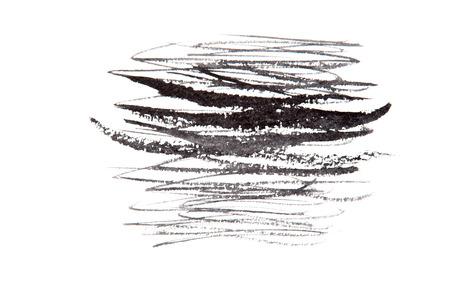 daub: Black hand painted brush stroke daub background