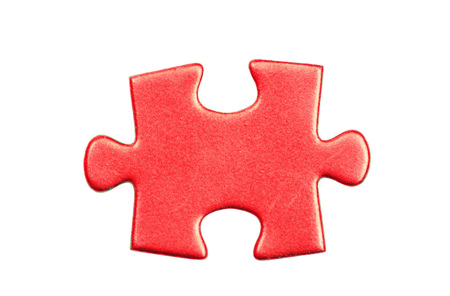 puzzle background: puzzle pieces on white background Stock Photo