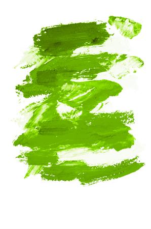 green brush stroke isolated on background