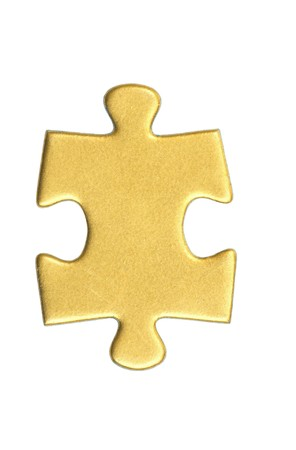puzzle pieces on white background Stock Photo
