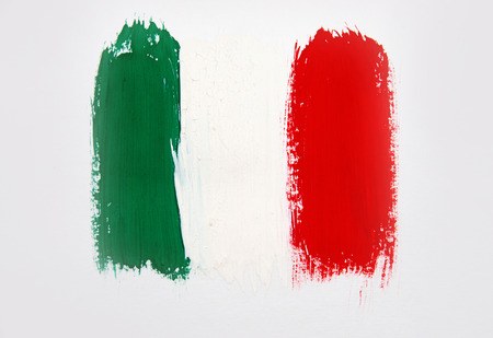 brushstroke: Brushstroke Flag Italy Stock Photo