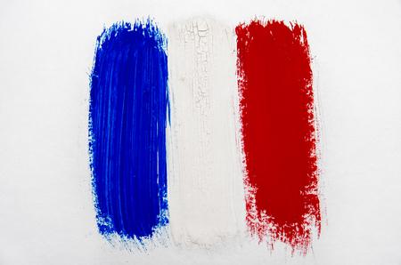brushstroke: Brushstroke Flag of France