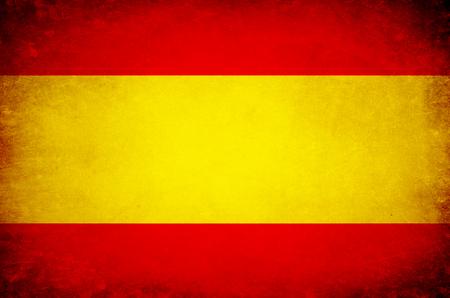 스페인의 국기 EU. 스톡 콘텐츠