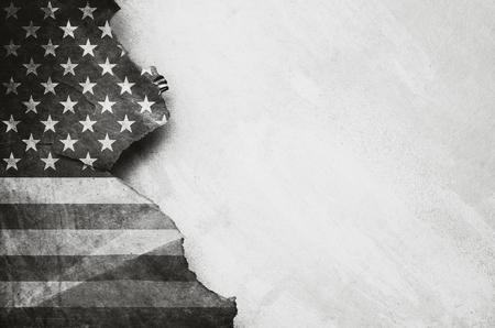 Grunge USA Flag Banco de Imagens