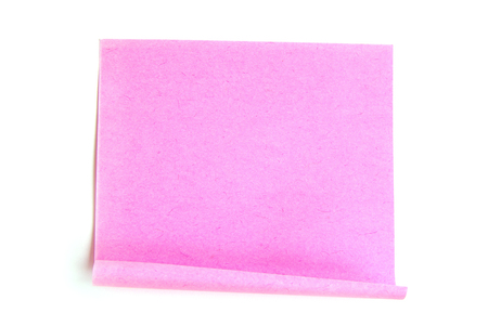 note paper isolated on the white background