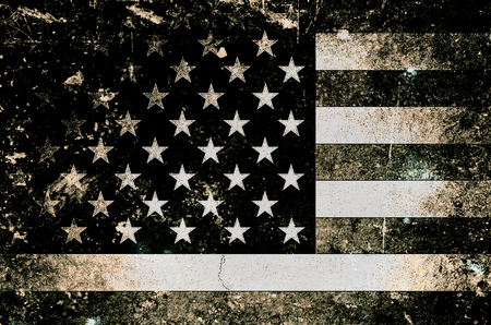 Grunge background USA Flag 스톡 콘텐츠