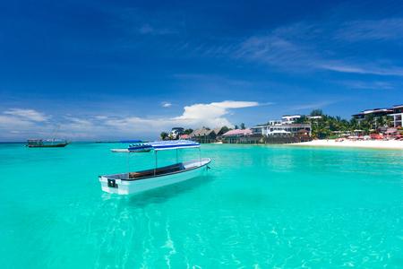 Beautiful sky and blue sea . tropical beach