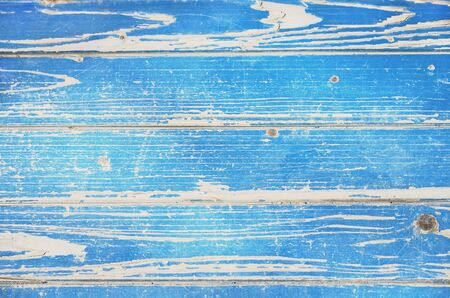 Blue texture of retro plank wood background