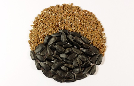 seeds and isolated background Stock Photo - 19359186