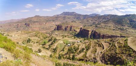 アフリカの風景。エチオピアのティグレ州