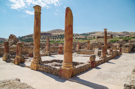 Bulla Regia. Ruins of the Roman city. Tunisia, near Jendouba Stock Photo