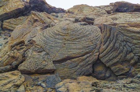 Nature geometry. Natural pattern. Natural abstraction. Dry lava field near volcano Erta Ale. Badland desert area. Ethiopia, Afar Depression (Afar Triangle or Danakil Depression)