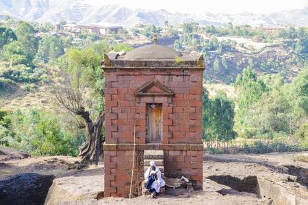 Lalibela, Amhara Region, Ethiopia - Jan 14, 2014: Selassie Chapel.
