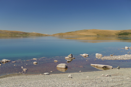Mongolian Altai. Crystal clear cold water Nature and travel. Mongolia, Bayan-Olgii Province