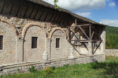 Exonarthex of St. Marys Church. It was built between 1694-1699 and decorated in 1712. Cultural Monument of Albania, Korce County, Moscopole (Voskopoje)