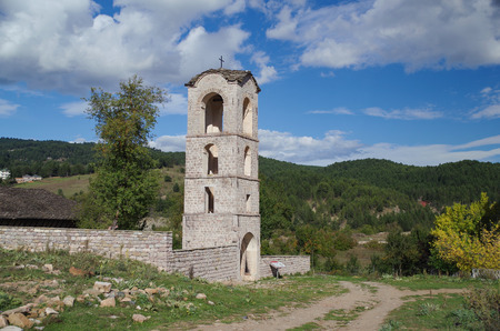 St. Marys Church. It was built between 1694-1699. Cultural Monument of Albania, Korche County, Moscopole (Voskopoje)