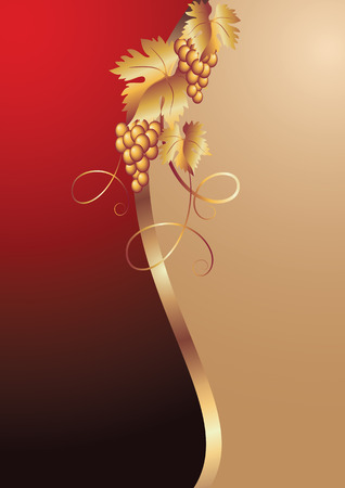 Background with vine ornament. Vector