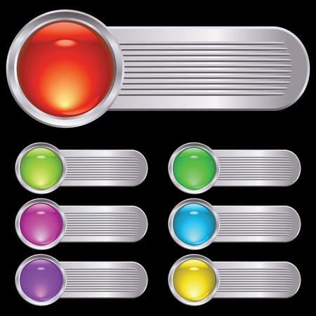ridge: Set of buttons