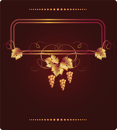 Background with vine ornament  Vector