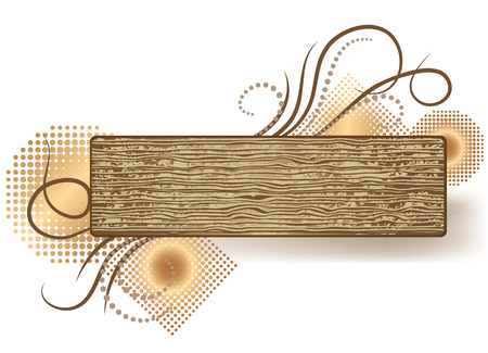 Abstract background with wooden texture  Stock Vector - 6815960