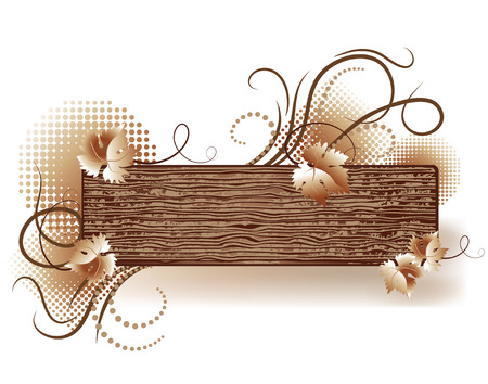 Abstract background with wooden texture Stock Vector - 6815962