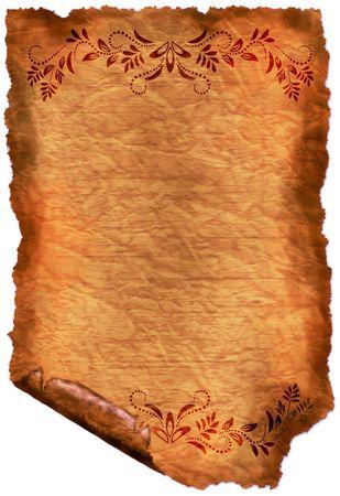 Old paper - crumple parchment paper texture background Stock Photo - 6815959