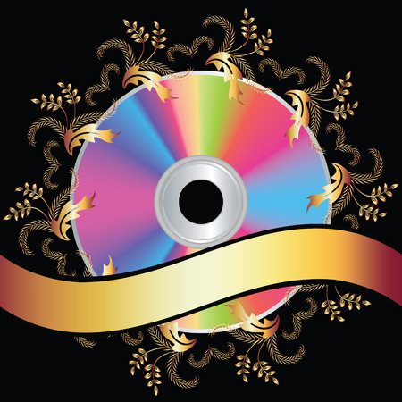 Background with DVD disk  Vector