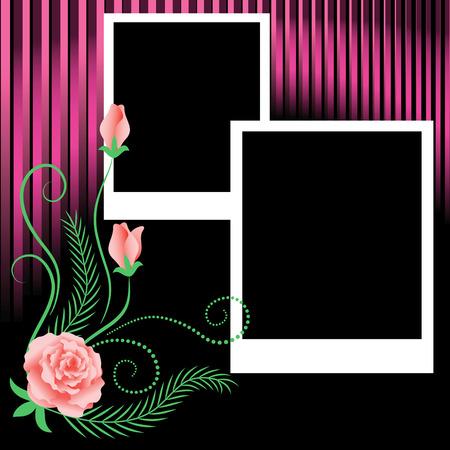 insertar: �lbum de fotos de dise�o de p�gina con Rosa  Vectores