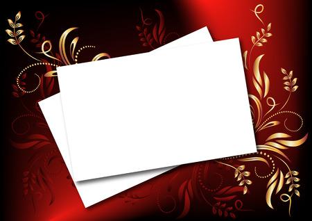 insertar: Fondo floral m�gica para insertar el texto o la foto  Vectores