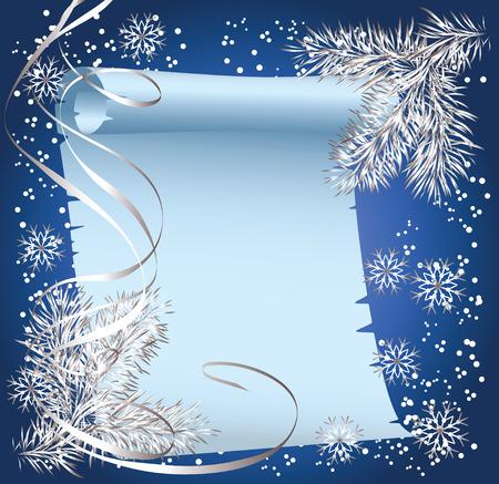 spruce: Fondo de Navidad con abetos pergamino de rama y desplazamiento