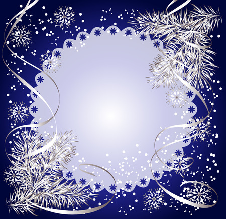lace edges: Cloth with lace edges at the Christmas background Illustration