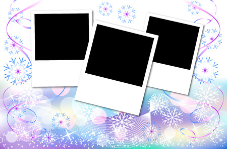 Design a photo album with a Christmas background Vector
