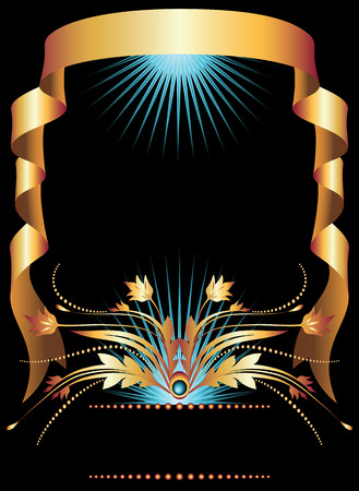 Background with golden ornament for various design artwork Stock Vector - 8136789