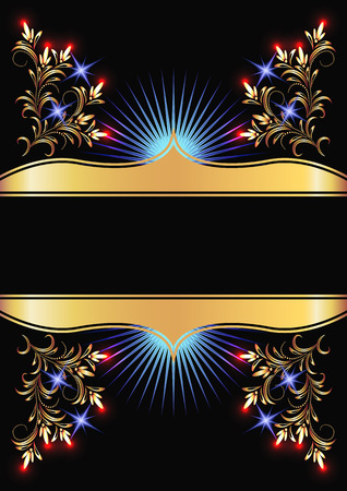 Background with golden ornament for various design artwork Stock Vector - 8154174